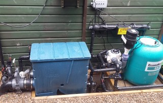 gravity fed pond filter